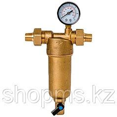 """Фильтр Гейзер-Бастион 122 1/2"""" (с манометром для горячей воды, d60) 32672"""