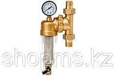 Фильтр Гейзер-Бастион 7508095233 (3/4 для холодной воды, с поворотным мех., манометром, d60) 32678