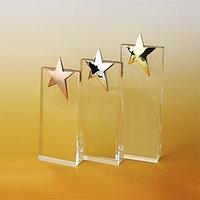 Стелла наградная с золотой звездой