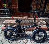 """Электровелосипед 48v 500w (max 1000w), аккум. Li-ion 48v 15 A/H.  Складной. Колеса 20*4""""., фото 9"""