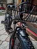 """Электровелосипед 48v 500w (max 1000w), аккум. Li-ion 48v 15 A/H.  Складной. Колеса 20*4""""., фото 4"""