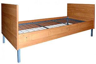 Кровать металлическая с каркасом ЛДСП