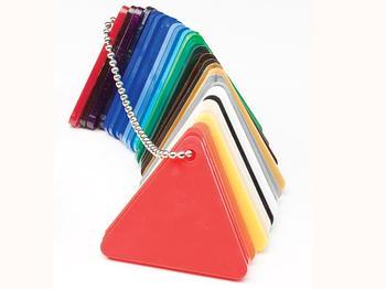 Цветной чип - плоские пластиковые буквы