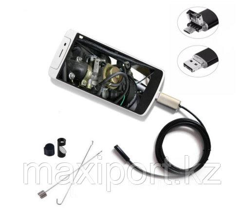 Камера эндоскоп  для смартфона или компьютера (USB), с подсветкой 3 режима, фото 2