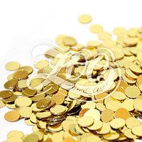 1172 Круглые камифубуки 2мм золото 1 г ZOO