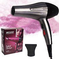 Фен для волос с 2 режимами скорости 2 режима температуры 2 насадки Mozer MZ-5930 5000W серебристый
