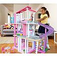 """Barbie Кукольный домик Барби """"Дом мечты"""" 3 этажный с лифтом и мебелью, фото 7"""