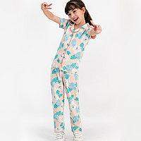 Пижама девичья подростк. 14-164 см, Пудровый