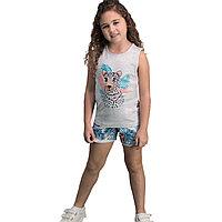 Пижама девичья подростк. 12/152 см, Серый