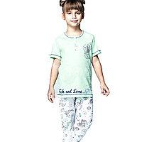 Пижама детская девичья 4/104 см - Салатовый