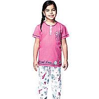 Пижама детская девичья 4/104 см - Розовый