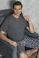 Пижама мужская 3XL/54-56, Тёмно-серый