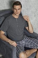 Пижама мужская 6XL/60, Тёмно-серый