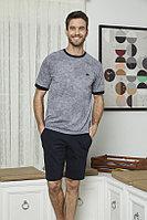Пижама мужская L/48-50, Серый