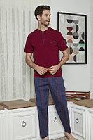 Пижама мужская 2XL/48-50, Бордовый