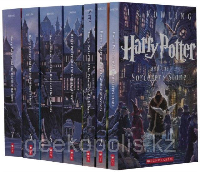 Harry Potter Box Set, Гарри Поттер комплект из семи книг на английском языке, Джоан Роулинг, Мягкий переплет - фото 1