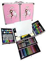 Набор для рисования с красками в металлическом кейсе 238 предметов, фото 1