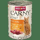 Консервы CARNY ADULT с говядиной и курицей для взрослых кошек (400 гр.)