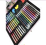 Набор для рисования с красками в металлическом кейсе 238 предметов, фото 3