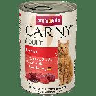Консервы CARNY ADULT с отборной говядиной для взрослых кошек (200 гр.)