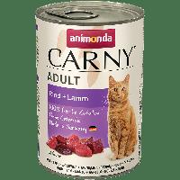 Консервы CARNY ADULT с говядиной и ягнёнком для взрослых кошек (400 гр.)