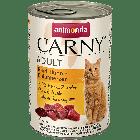 Консервы CARNY ADULT с говядиной, курицей и уткой для взрослых кошек (400 гр.)