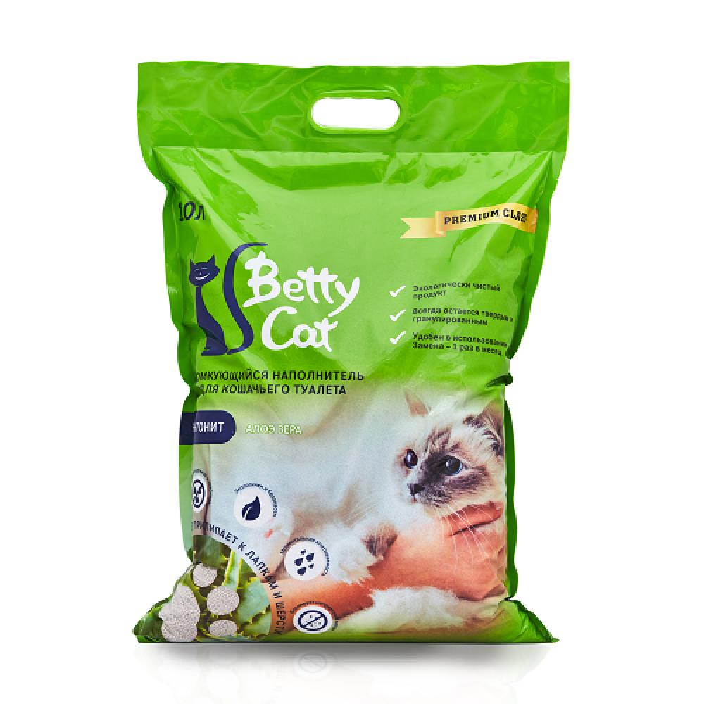 Betty Cat Комкующийся наполнитель Алоэ, 10 л