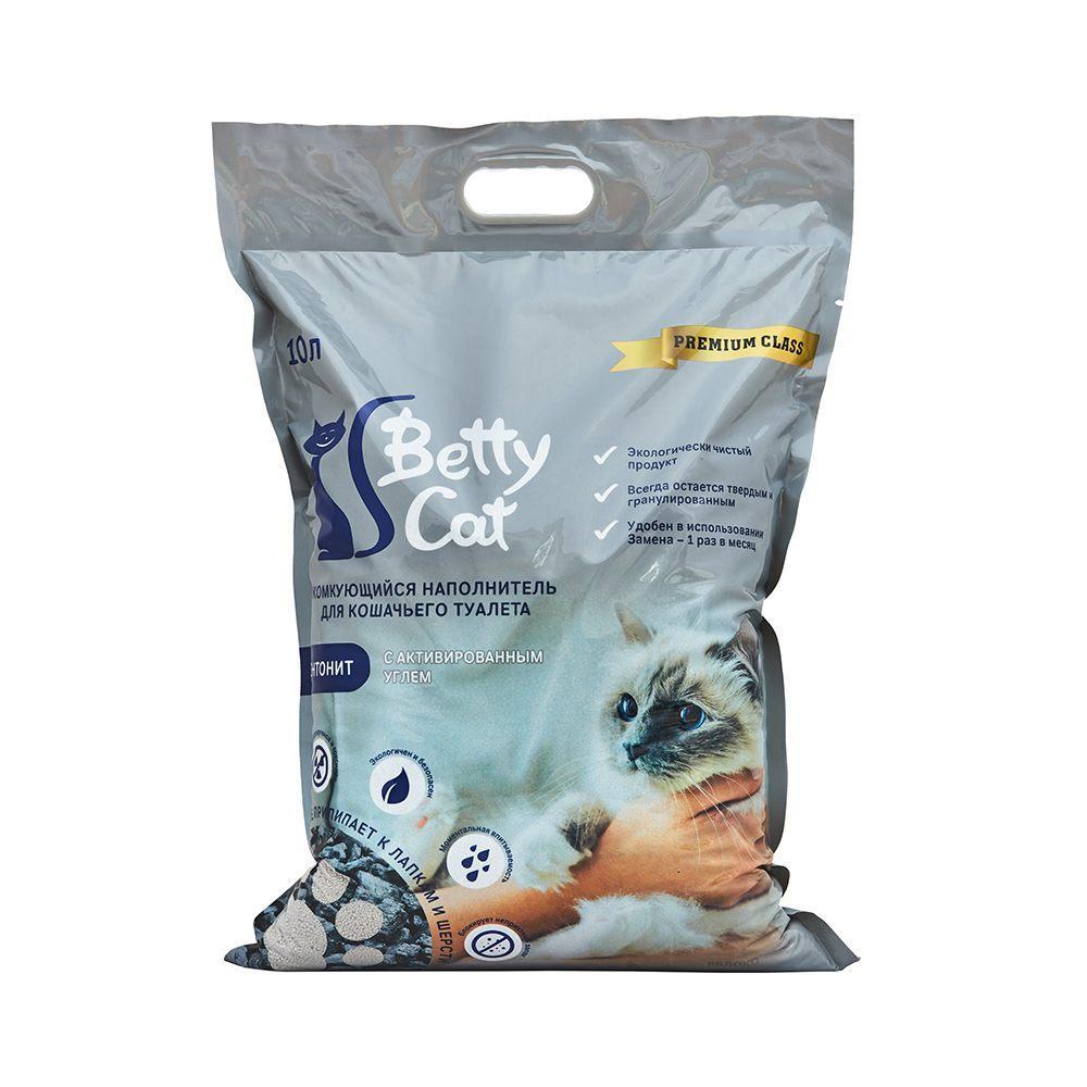Betty Cat Комкующийся наполнитель Активированный уголь, 10 л