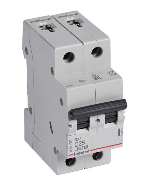 Автоматический выключатель Legrand 419699 Rx3 Авт.Выкл. 4 5ka 25а 2п C