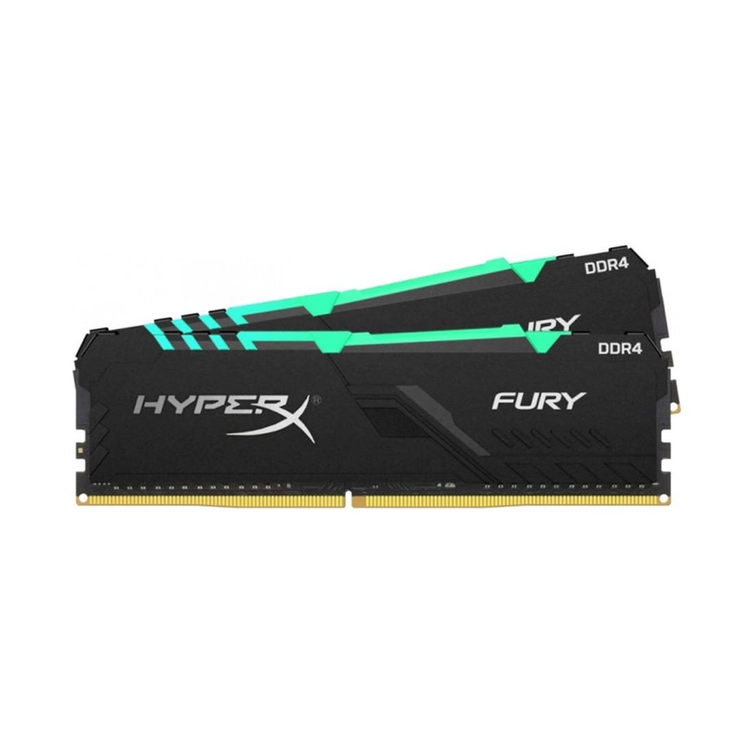 Комплект модулей памяти, Kingston, HyperX Fury RGB HX430C16FB3AK2/64 (в комплекте 2 шт)