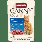 Паучи CARNY ADULT с говядиной и цесаркой для взрослых кошек