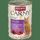 Консервы CARNY ADULT с говядиной и ягнёнком д/взрослых кошек
