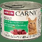 Консервы CARNY ADULT с говядиной, индейкой и кроликом д/взрослых кошек