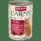 Консервы CARNY ADULT с говядиной и сердцем д/взрослых кошек