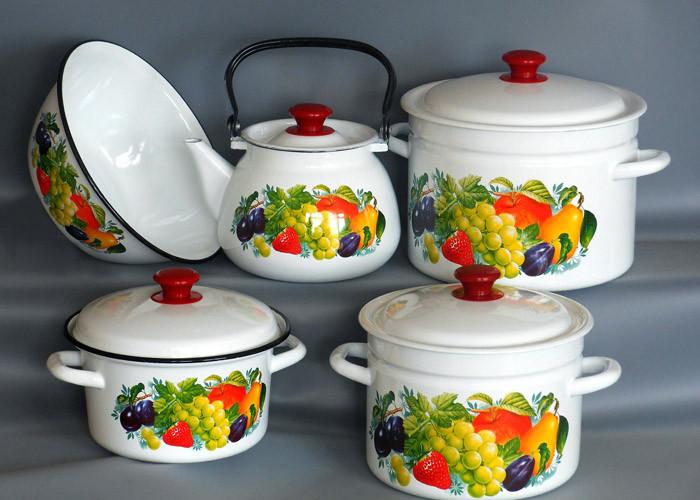 Набор эмалированной посуды Джем