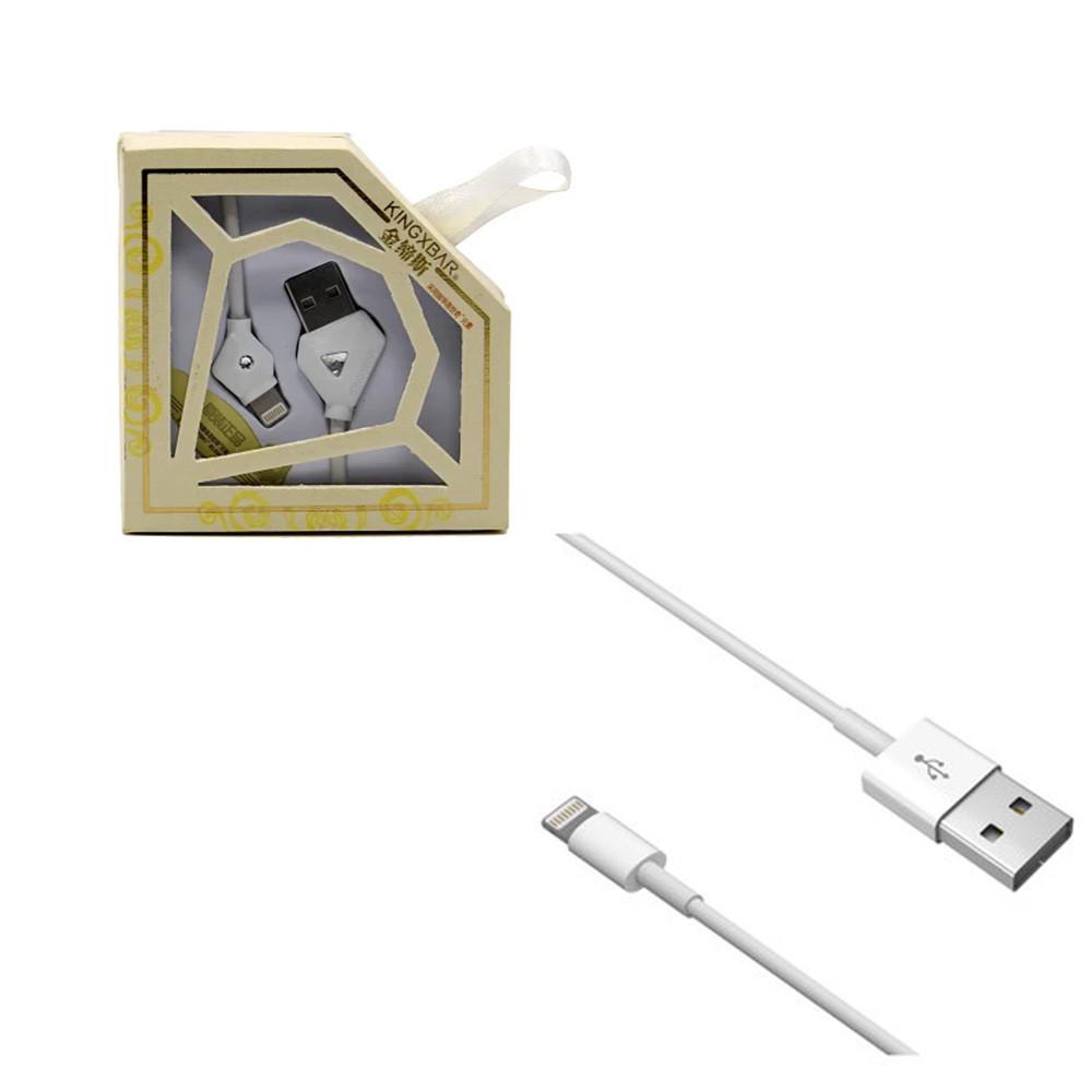 Кабель Apple lightning Kingxbar 1.2m White