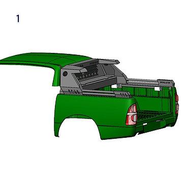 Дуга многофункциональная алюминиевая - Toyota Hilux Арт. 15061L(1)