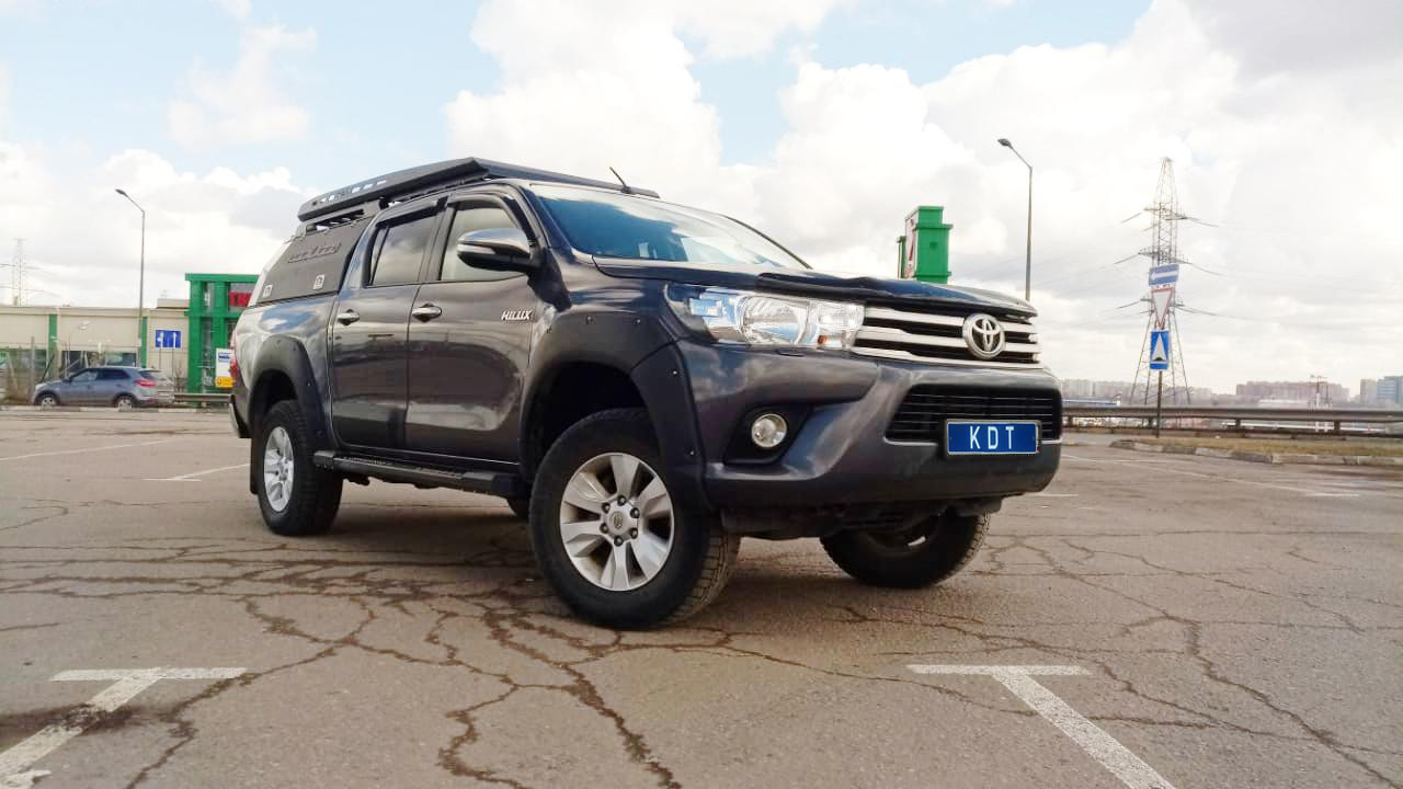 Кунг экспедиционный трехдверный VI поколения алюминиевый - Toyota Hilux