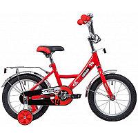 """Велосипед NOVATRACK 14"""" MAPLE, красный, полная защита цепи, тормоз нож, крылья цвет, сидение для кук"""