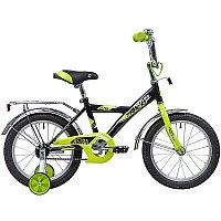"""Велосипед NOVATRACK 16"""" ASTRA чёрный, тормоз нож, крылья и багажник хром, полная защ.цепи"""