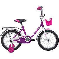 """Велосипед NOVATRACK 16"""" MAPLE, сиреневый, полная защита цепи, тормоз нож.,крылья и багажник хром, пе"""