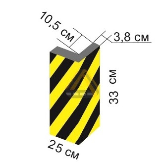 Демпфер угловой из вспененного полиэтилена ДУ-ВП-2