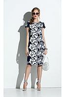 Женское летнее хлопковое синее платье Diva 1303 42р.