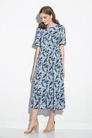 Женское летнее из вискозы платье Gizart 5066-1 ананасы 44р.