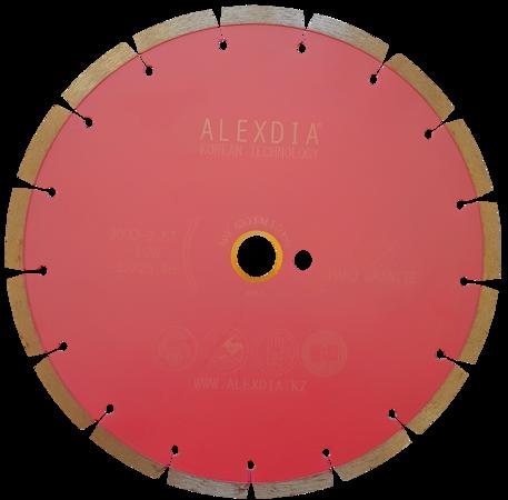 """Сегментный диск по граниту (sinered) розовый """"спеченый"""" 230 мм 230D-2.3T-7W-22.23"""