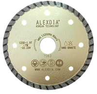 Диск турбо по граниту цвет золотой 300 мм 300D-3.0T-7.0W-32/25.4H