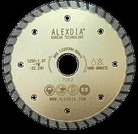 Диск турбо по граниту цвет золотой 350 мм 350D-3.0T-7.0W-32/25.4H