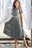 Женское летнее зеленое нарядное большого размера платье Vittoria Queen 12783-1 46р.