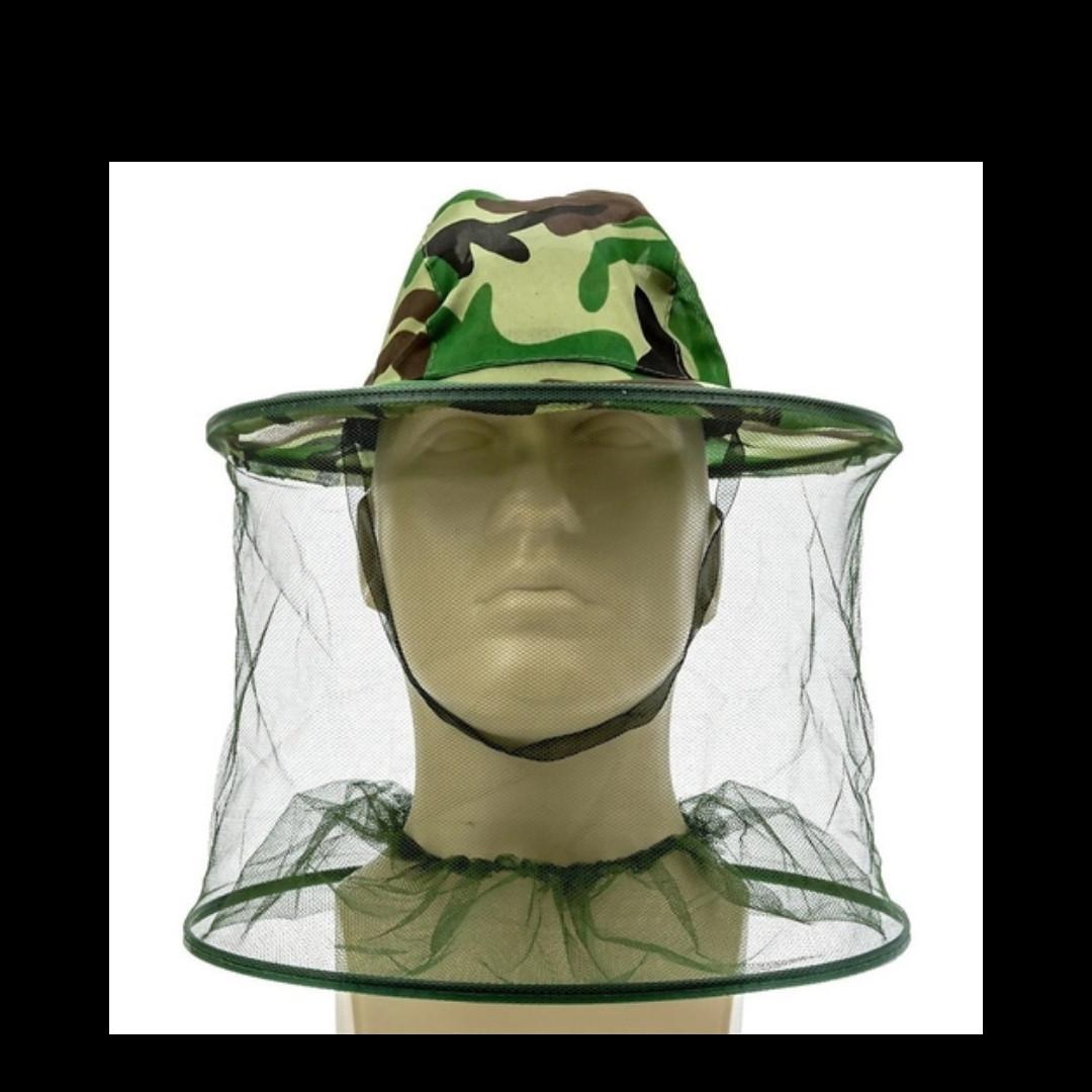 Шляпа антимоскитная Ø42см Чёрная Мелкая сетка