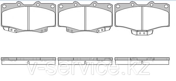 Тормозные колодки KEBO CD-2082 (G-023)(315 04)